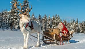 pello santa claus reindeer land in lapland in