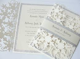 laser cut wedding programs winter wedding invitation snowflake wedding invite