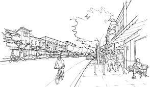 inked renderings of urban fabric gunderson planning u0026 design
