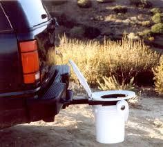 tailgate bathroom amazon com bumper dumper the original hitch mountable portable