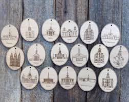 personalized 2 5 inch wood temple ornaments lds temple