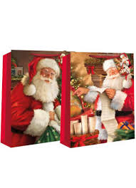 christmas gift bag traditional santa christmas gift bags