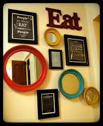 Ideas For Decorating Kitchen Walls Kitchen Wall Decor Yellow Aqua And Red Kitchen Diy Chalk Art