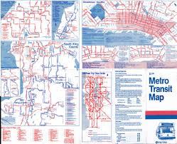 Metro Transit Map by 1988 Metro Transit Map Details Seattle Detailed Maps Incl U2026 Flickr