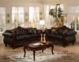 faux leather sofa and love seat by trujillo interiors