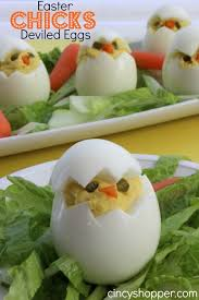 Easter Lunch Decorations by Easter Chicks Deviled Eggs Recipe Easter Dinner Devil And Easter