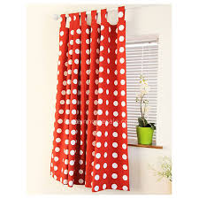Polka Dot Curtains Bedroom Or Living Room Cotton And White Polka Dot Curtains