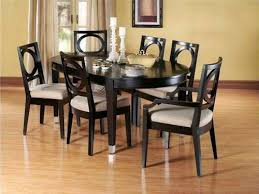 dining room 2017 black polished wood oval dining table set for