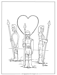 coloring pages for kids by mr adron guard of your heart