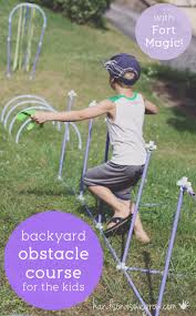 fort magic obstacle course for kids in the backyard backyard