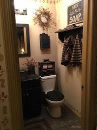 primitive country bathroom ideas i have never seen a stencil around the baseboard prim bath