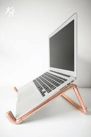 Laptop Stands For Desks Copper Pipe Laptop Stand Laptop Notebook Stand Desk Polished
