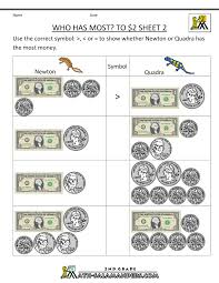 Printable Math Worksheets For 5th Grade 2nd Grade Money Worksheets Up To 2