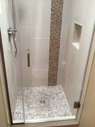 contemporary 3 4 bathroom with tiled shower by joshua farrand