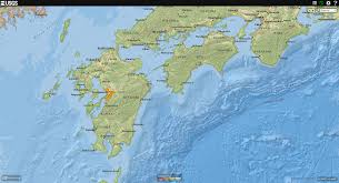 Correct World Map by Earthquake Report Kyushu Japan Jay Patton Online