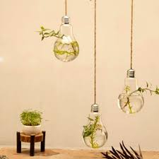 new sale clear bulb glass wall hanging vase bottle for plant
