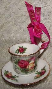 details about floral teapot ornaments w dangling tea