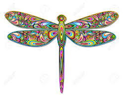 fly abstract design clipart