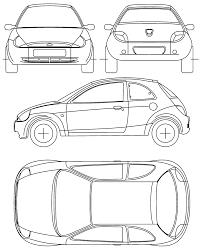 car blueprints ford ka blueprints vector drawings clipart and