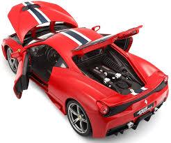 lego ferrari 458 amazon com bburago 1 18 scale ferrari race and play 458 speciale
