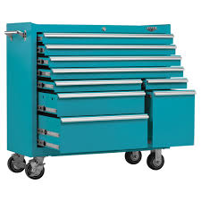 rolling tool storage cabinets viper tool storage 41 inch 9 drawer 18g steel rolling cabinet teal