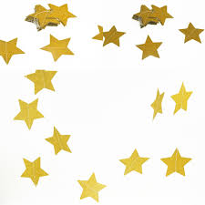 Decorative Garlands Home Aliexpress Com Buy Double Side Gold Star Wall Hangings Props
