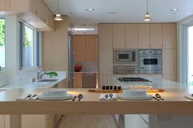 modern kitchen with white oak cabinets kitchen at california contemporary by rozalynn woods