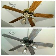 ceiling fan with grey blades 6 dollar ceiling fan update ceiling fan spray painting and ceilings