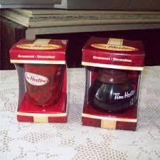 hortons coffee pot and mug cup 2010 ornaments