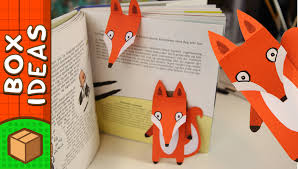 diy bookmark fox craft ideas for kids on box yourself youtube