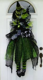 191 best halloween wreaths door swags images on pinterest