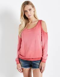 cold shoulder sweaters cold shoulder sweatshirt fifteen twenty clothing