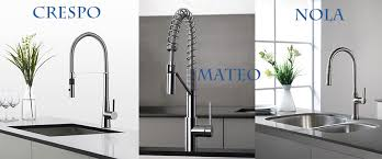 kraus kitchen faucets new to kraus nola mateo crespo faucets welcome to directsinks