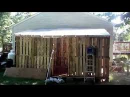 How To Build A Shed Out Of Wooden Pallets by How To Built A Pallet Shed Pt 2 Youtube