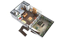 3d floor plan rendering here you can see a two storied floor