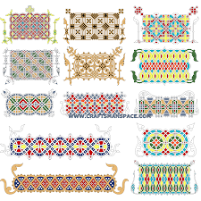 interlaced ornaments from russian manuscripts