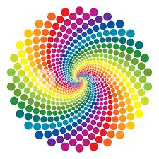rainbow vortex vector background royalty free stock image