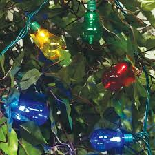time led edison light set green wire multi bulb 35 count