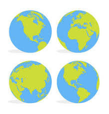 world map globe image earth character world map globe with vector image