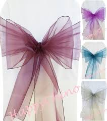 chair ribbons sash chair picture more detailed picture about 100pcs plum