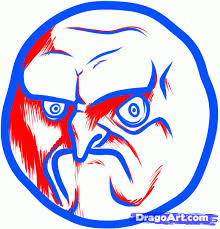 Rage Meme Face - how to draw the no rage face step by step characters pop
