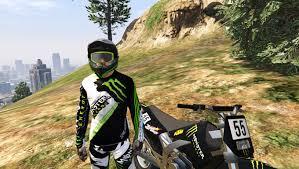 monster helmet motocross monster energy skin moto x cross mini pack gta5 mods com