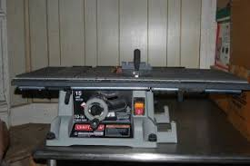 craftsman 10 portable table saw craftsman 10 table saw 3 hp 5000 rpm model 137 248830 craftsman