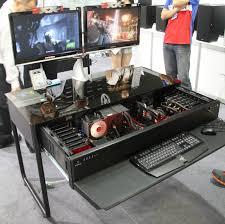 bureau ordinateur intégré computex les pc bureaux et table basse de lian li boîtiers