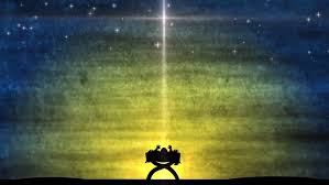 christmas manger baby jesus in manger all by himself the skies with the