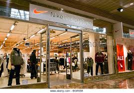 designer outlet store nike shop stock photos nike shop stock images alamy