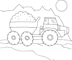 truck color pages printable kiddo shelter