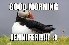 Puffin Meme - meme maker good morning jennifer