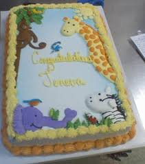 jungle theme baby shower cake blue ombre animal cake cake babies and shower cakes