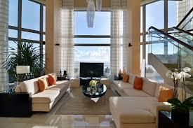 Living Room Ideas With Cream Leather Sofa Brilliant Oceanfront Living Rooms Design With Cream Leather Sofa